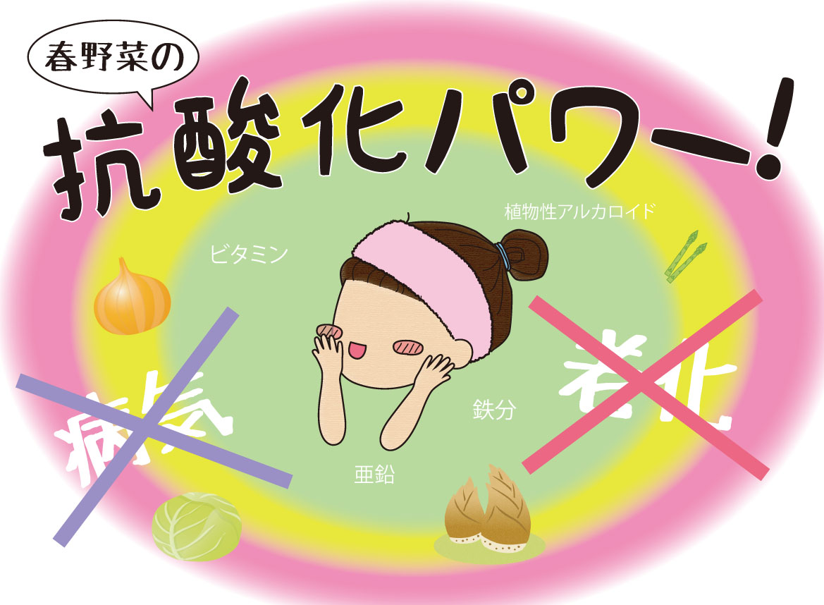 ☆女性のミカタ〜春の健康食材!☆